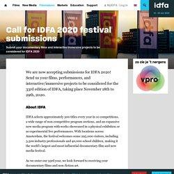 IDFA 2020 : appel à candidatures pour le festival de documentaires d'Amsterdam