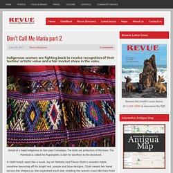 Don't Call Me María part 2 - Revue Magazine