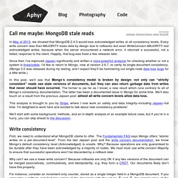Call me maybe: MongoDB stale reads