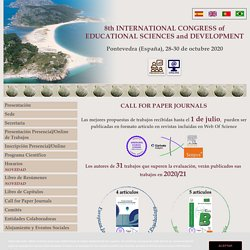 8th INTERNATIONAL CONGRESS of EDUCATIONAL SCIENCES and DEVELOPMENT