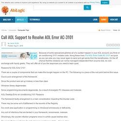 Call AOL Support to Resolve AOL Error AC-3101