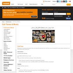 Call Tones & Music