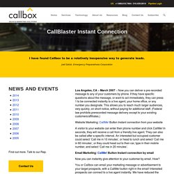 CallBlaster Instant Connection - Callboxinc.com - B2B Lead Generation Company