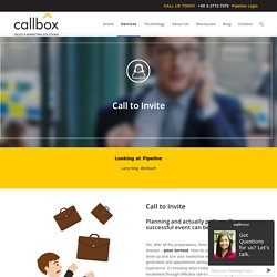 Call-to-Invite Telemarketing - CallboxB2B Lead Generation Company in Malaysia