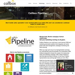 Callbox Pipeline - callboxinc.com.au - B2B Lead Generation and Appointment Setting