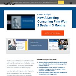 Callbox Spotlight: How A Leading Consulting Firm Won 2 Deals in 3 Months
