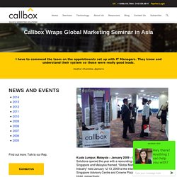 Callbox Wraps Global Marketing Seminar in Asia - Callboxinc.com - B2B Lead Generation Company