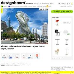 vincent callebaut architectures: agora tower, taipei, taiwan