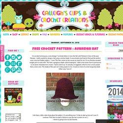 Free Crochet Pattern : Aubreigh Hat