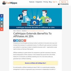 CallHippo Extends Benefits To Affiliates At 25%