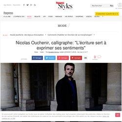 """ARTICLE: Nicolas Ouchenir """"L'écriture sert à exprimer ses sentiments"""" -F"""