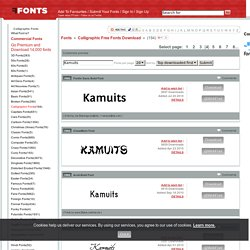 Calligraphic Fonts on FFonts.net like Fontin Sans Bold, ChowMein, Acid-Bold