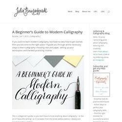 Lettering & Calligraphy - Julia Bausenhardt
