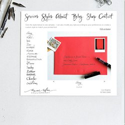 Anne Robin: Los Angeles Calligrapher, Hand Written Calligraphy, Wedding Invitations