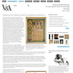 National Art Library modern calligraphy collection