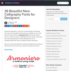 25 of the Best Calligraphy Fonts for Designers | Vandelay Design
