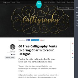 60 Free Calligraphy Fonts to Bring Charm to Your Designs