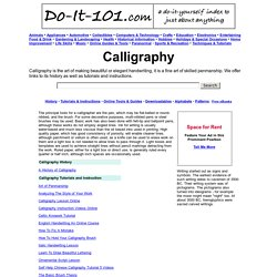 Do It 101 Free Calligraphy Links Calligraphy Instruction and Projects
