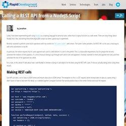 Calling a REST API from a NodeJS Script