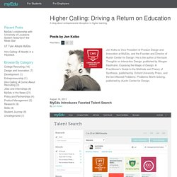 Higher Calling: Driving a Return on Education