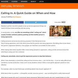 Calling In: A Quick Guide on When and How