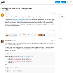 Calling julia functions from python - Usage - JuliaLang