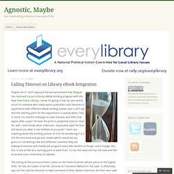 Calling Timeout on Library eBook Integration