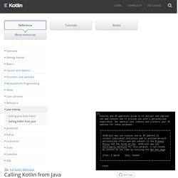 Calling Kotlin from Java