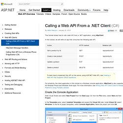 Calling a Web API From a .NET Client (C#