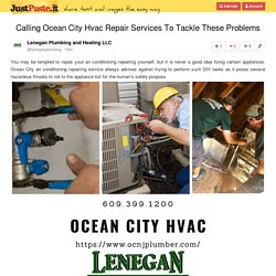 Calling Ocean City Hvac Repair Services To Tackle These Problems