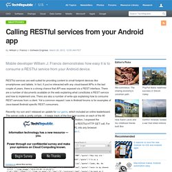 Calling RESTful services from your Android app