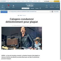 Calogero condamné définitivement pour plagiat