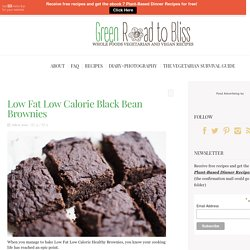 Low Fat Low Calorie Black Bean Brownies - Green Road to Bliss