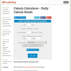 Daily Calorie Needs (FD)