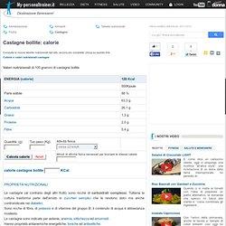 Calorie Castagne bollite