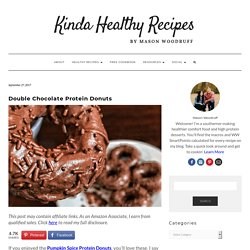 89-Calorie Double Chocolate High Protein Donuts Recipe