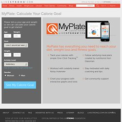 Calorie Counter, Calorie Tracker & Food Journal | MyPlate on LIVESTRONG.COM