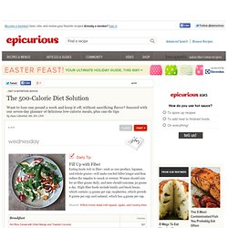 The 500-Calorie Diet Solution at Epicurious