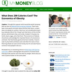 What Does 200 Calories Cost? The Economics of Obesity