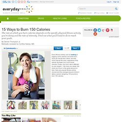 15 Ways to Burn 150 Calories - Fitness Center