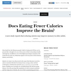 Fewer Calories Improves the Brain