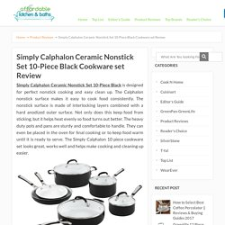 Simply Calphalon Ceramic Nonstick Set 10-Piece Black