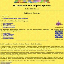 Introduction to Complex Systems