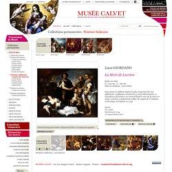 Musée Calvet d'Avignon: la mort de Lucrèce (Luca Giordano)