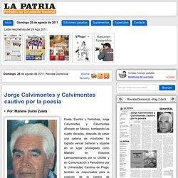 Jorge Calvimontes y Calvimontes cautivo por la poesía