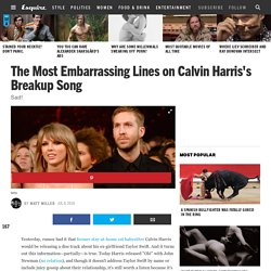 Calvin Harris's Taylor Swift Song: Listen to the Breakup Track Ole Here