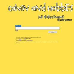 Calvin & Hobbes Search Engine - by Bing