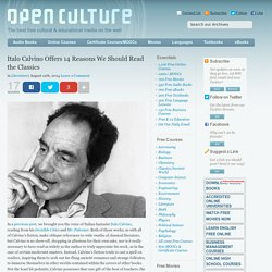 Italo Calvino Offers 14 Reasons We Should Read the Classics