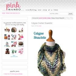 Calypso Crochet Shawlette - Pink Mambo