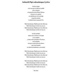 INFANTIL PIPI CALZASLARGAS LYRICS | JustSomeLyrics